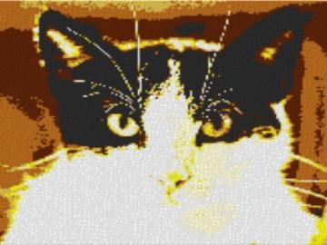 Vorlage für Ministeck Cat 80x60cm yellow Style als Entwurfdruck
