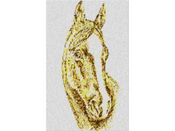 Vorlage für Ministeck Pferdekopf 60x80cm yellow Style als Entwurfdruck