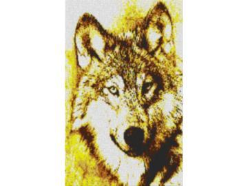 Vorlage für Ministeck Wolf 60x80cm yellow Style als Volldruck