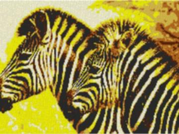 Vorlage für Ministeck Zebra1 100x60cm yellow Style per eMail