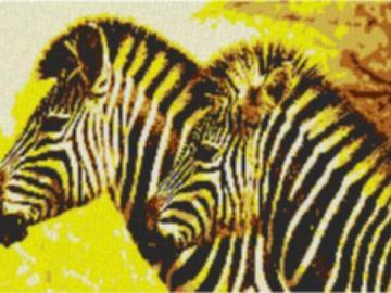 Vorlage für Ministeck Zebra1 100x60cm yellow Style als Entwurfdruck