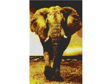 Vorlage für Ministeck Elefant 60x80cm yellow Style als Entwurfdruck