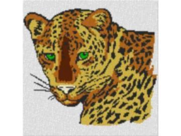 Vorlage für Ministeck Leopard 60x60cm bunt als Entwurfdruck