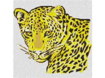 Vorlage für Ministeck Leopard 60x60cm yellow Style als Volldruck