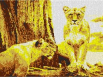 Vorlage für Ministeck Savanne 80x60cm yellow Style als Entwurfdruck