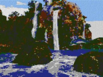 Vorlage für Ministeck Blue Lagune 80x60cm cartoon Style als Entwurfdruck