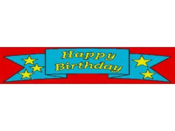 Vorlage für Ministeck Happy Birthday 140x47cm bunt per eMail