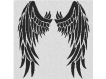 Vorlage für Ministeck Wing 80x80cm schwarz/weiß als Entwurfdruck
