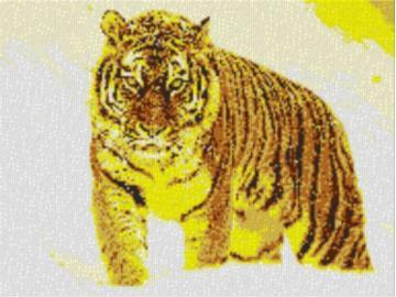 Vorlage für Ministeck Tiger im Schnee 80x60cm yellow Style per eMail