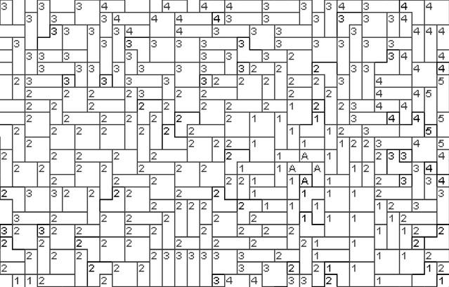 Vorlage für Ministeck Anemone 80x60cm schwarz/weiß als Entwurfdruck