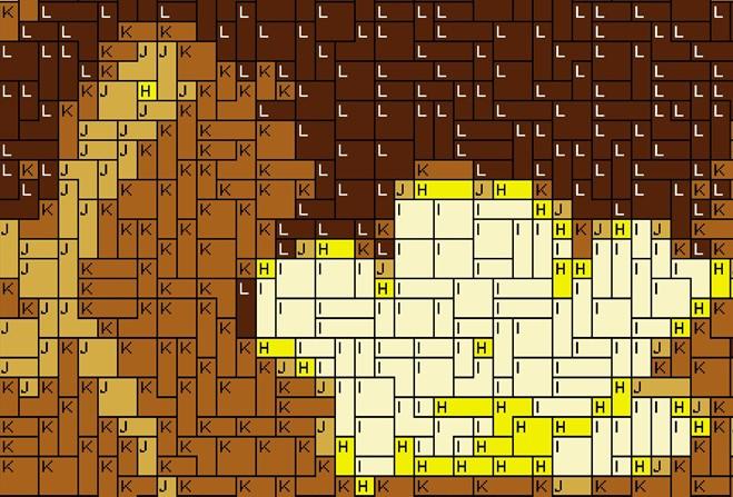 Vorlage für Ministeck Eule 60x80cm yellow Style als Volldruck